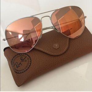 Ray Ban Pink Mirrored Sunglasses